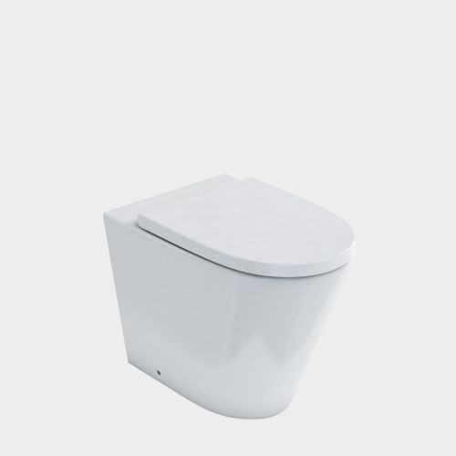 Sphere Easy Height Rimless Back-To-Wall Toilet Suite with In-Wall Cistern by VCBC