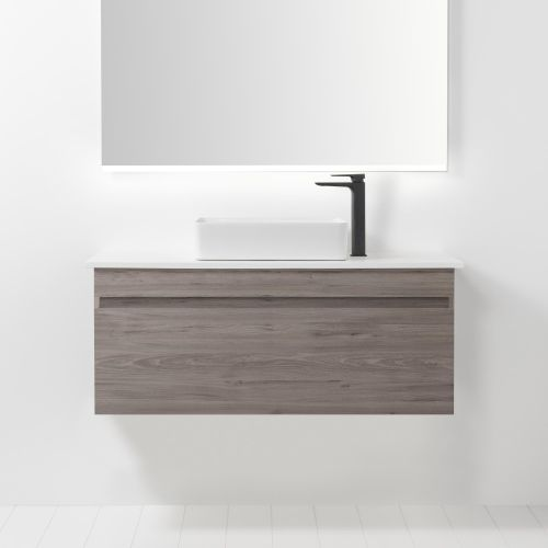 Soft Solid Surface 1000 Wall-Hung Vanity 1 Drawer by VCBC