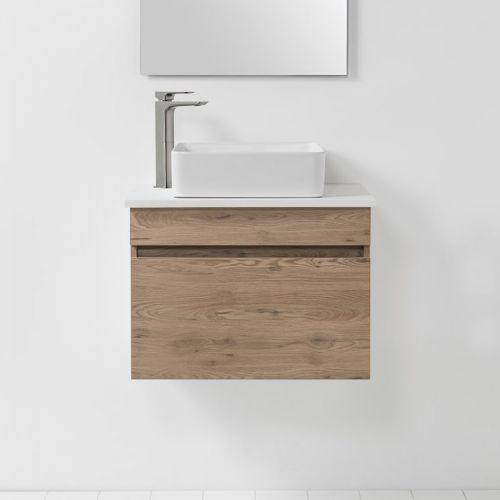 Soft Solid Surface 650 Wall-Hung Vanity 1 Drawer by VCBC