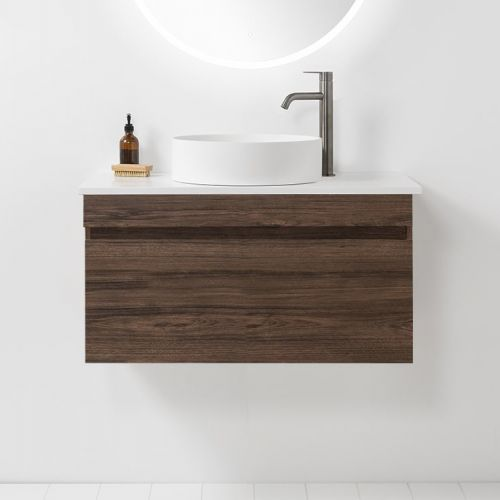 Soft Solid Surface 900 Wall-Hung Vanity 1 Drawer by VCBC