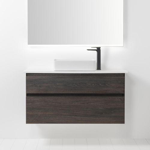 Soft Solid Surface 1000 Wall-Hung Vanity 2 Drawers by VCBC