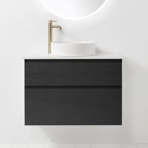 Soft Solid Surface 800 Wall-Hung Vanity 2 Drawers by VCBC