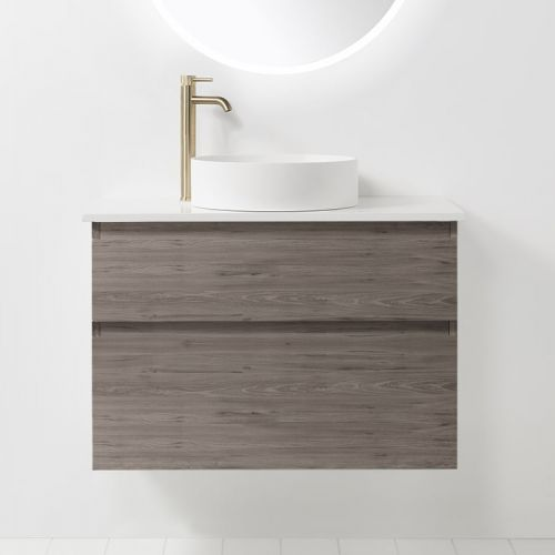 Soft Solid Surface 900 Wall-Hung Vanity 2 Drawers by VCBC