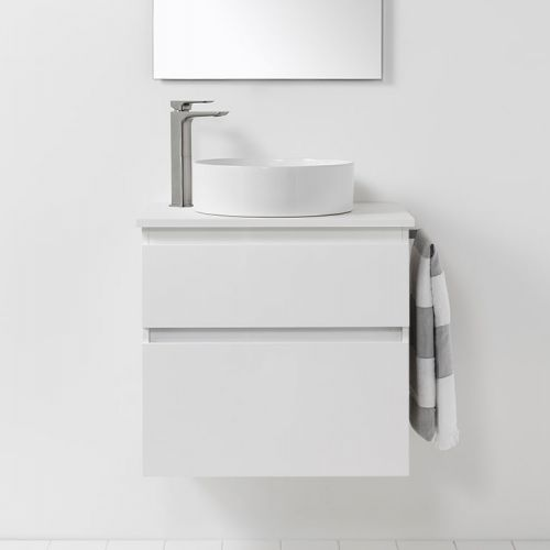 Soft Solid Surface 650 Wall-Hung Vanity 2 Drawers by VCBC