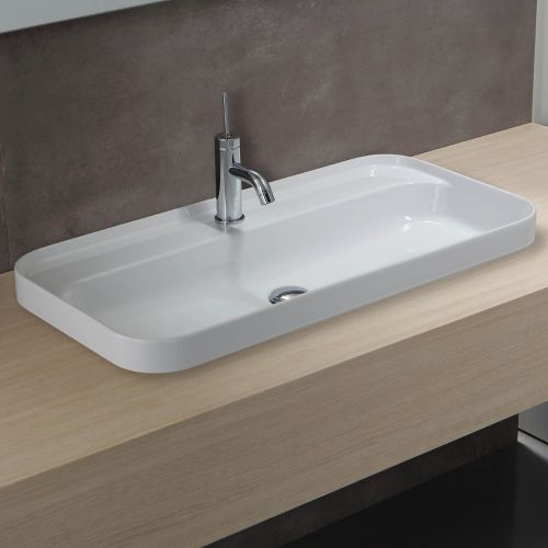 Slim 600 Semi-Recessed Basin by Michel Cesar