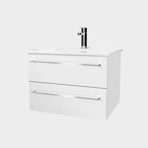 Zara 600 Wall-Hung Vanity 2 Drawers by VCBC
