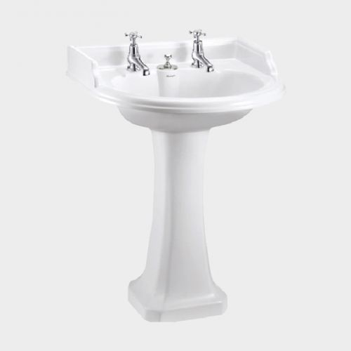 Classic Round 650 Basin with Invisible Overflow & Pedestal by Burlington