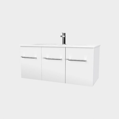 Zara 900 Wall-Hung Vanity 2 Doors 1 Drawer by VCBC