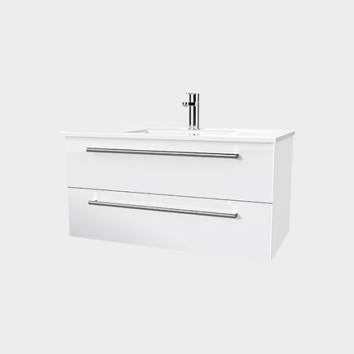 Zara 900 Wall-Hung Vanity 2 Drawers by VCBC