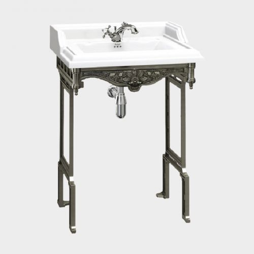 Classic Rectangle 650 Basin & Traditional Stand by Burlington