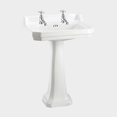 Edwardian Rectangle 610 Basin & Pedestal by Burlington