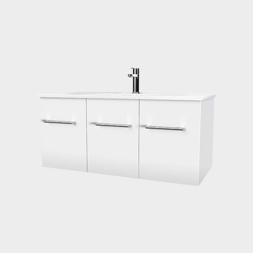 Zara 1000 Wall-Hung Vanity 2 Doors 1 Drawer by VCBC