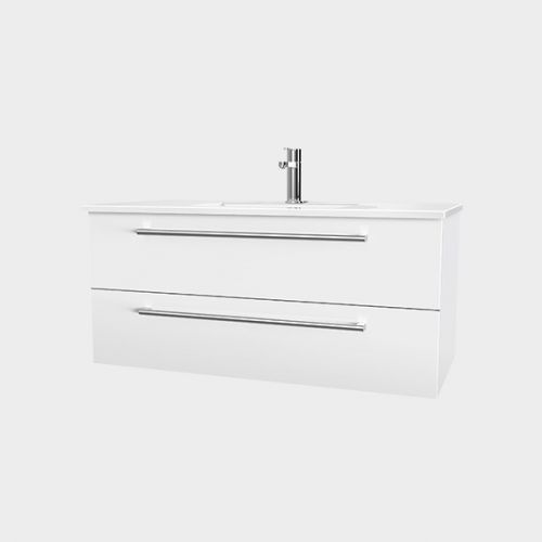 Zara 1000 Wall-Hung Vanity 2 Drawers by VCBC