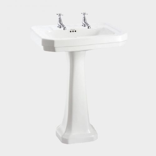 Victorian Rectangle 610 Basin & Pedestal by Burlington