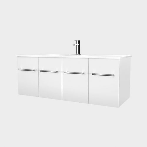 Zara 1200 Wall-Hung Vanity 2 Doors 2 Drawers by VCBC