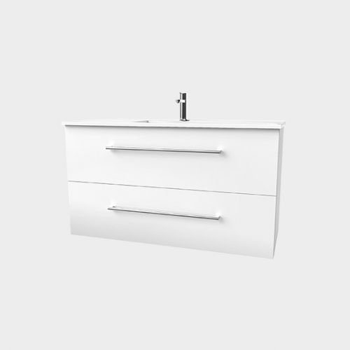 Zara 1200 Wall-Hung Vanity 2 Drawers Extra Deep by VCBC