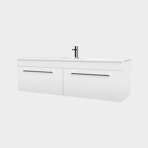 Zara 1500 Wall-Hung Vanity 2 Drawers by VCBC