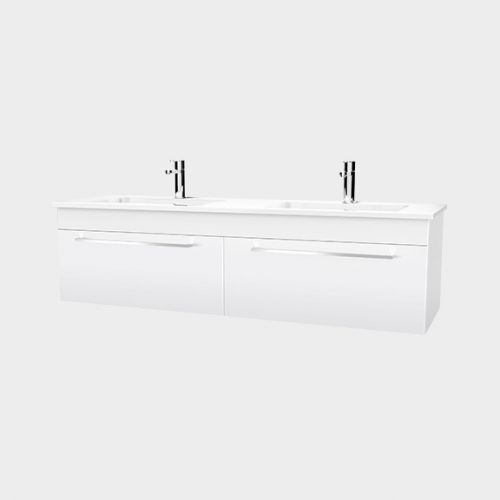Zara 1500 Wall-Hung Vanity 2 Drawers Side By Side by VCBC