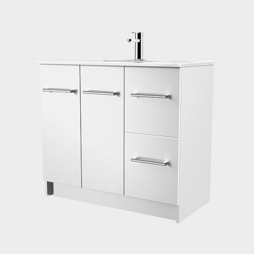 Zara 900 Floor-Standing Vanity 2 Doors 2 Drawers by VCBC