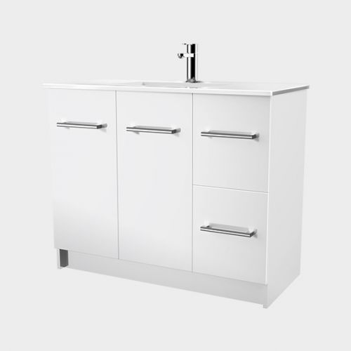 Zara 1000 Floor-Standing Vanity 2 Doors 2 Drawers by VCBC