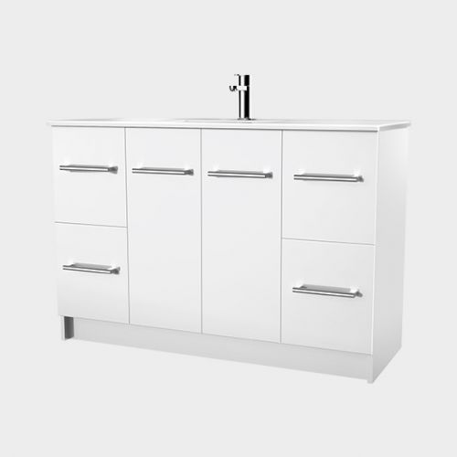 Zara 1200 Floor-Standing Vanity 2 Doors 4 Drawers by VCBC