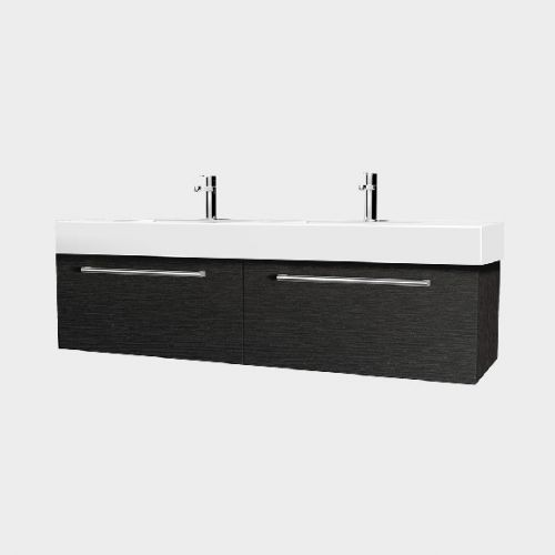 Splash 1200 Wall-Hung Vanity Double Bowl 2 Drawers Side By Side by VCBC