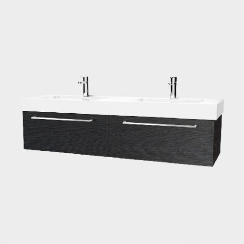 Splash 1500 Wall-Hung Vanity Double Bowl 2 Drawers Side By Side by VCBC