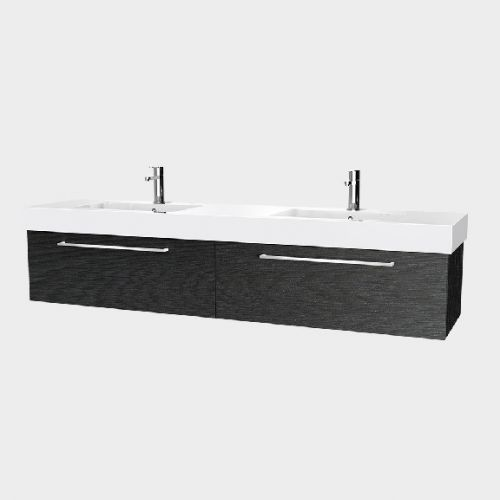 Splash 1800 Wall-Hung Vanity Double Bowl 2 Drawers Side By Side by VCBC