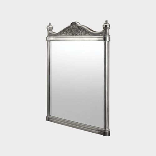 Georgian Brushed Aluminium Mirror by Burlington