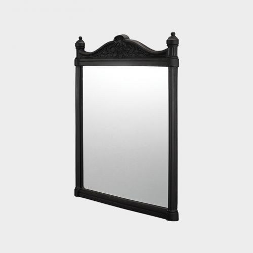 Georgian Black Aluminum Frame Mirror by Burlington