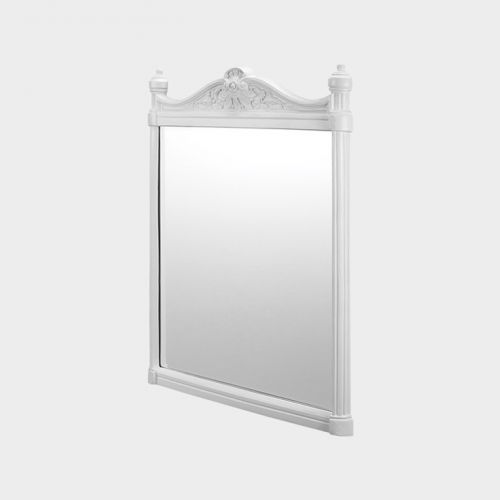 Georgian White Aluminum Frame Mirror by Burlington