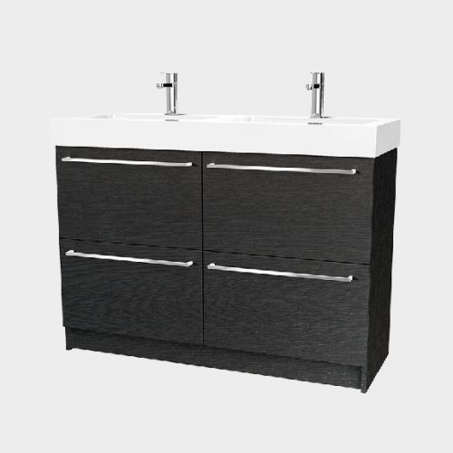 Splash 1200 Floor-Standing Vanity Double Bowl 4 Drawers by VCBC
