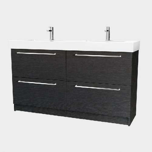 Splash 1500 Floor-Standing Vanity Double Bowl 4 Drawers by VCBC