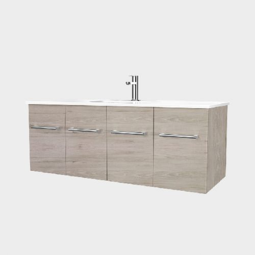 Fresh 1200 Wall-Hung Vanity 2 Doors 2 Drawers by VCBC