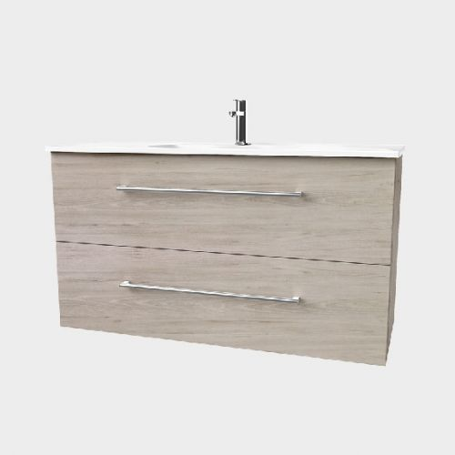 Fresh 1200 Wall-Hung Vanity 2 Drawers Extra Deep by VCBC