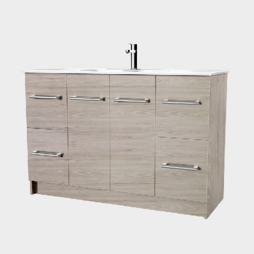 Fresh 1200 Floor-Standing Vanity 2 Doors 4 Drawers by VCBC