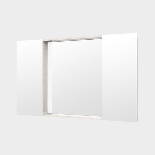 Mirror Unit 1200 - 2 Doors, 4 Shelves by Michel Cesar