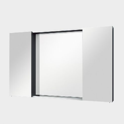 Mirror Unit 1200 - 2 Door, 4 Shelves by VCBC