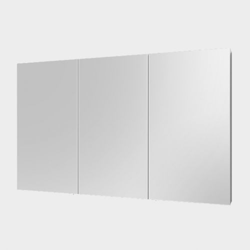 Mirror Unit 1200 - 3 Doors, 4 Shelves by VCBC
