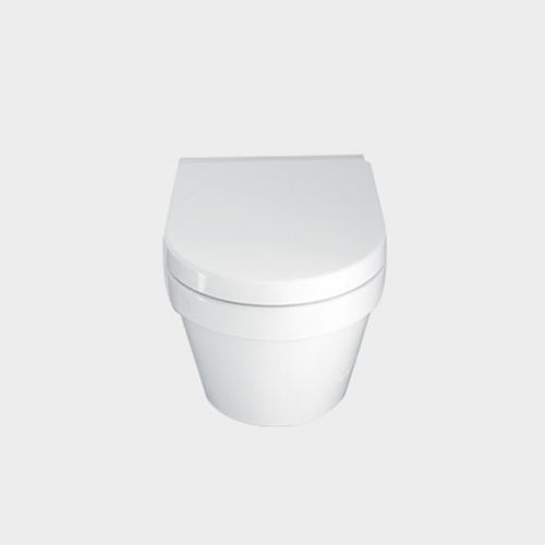 Onda Wall-Hung Toilet Suite with In-Wall Cistern by VCBC