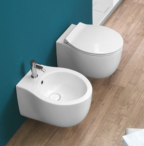 Le Fiabe Rimless Wall-Hung Toilet by Michel Cesar