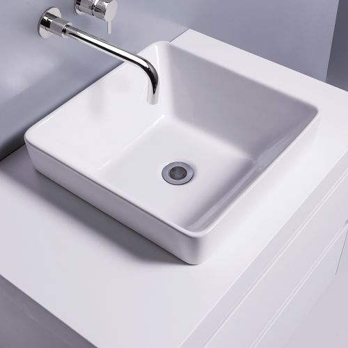 Sleek Square Semi-Recessed Basin by Michel Cesar