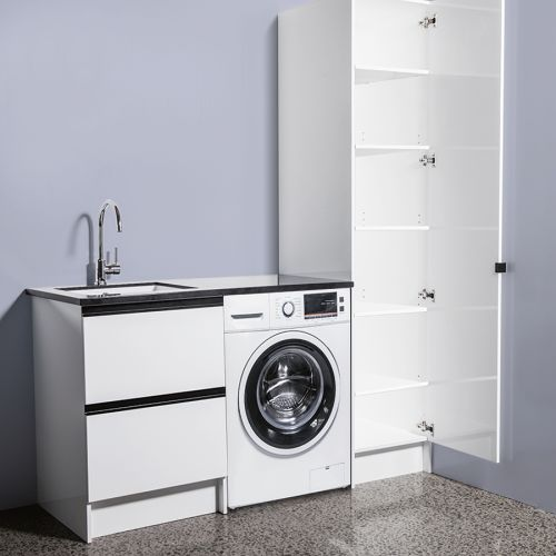 Tall Cupboards by Laundry