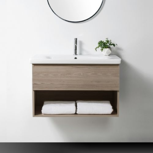 Soft 800 Wall-Hung Vanity 1 Drawer & Open Shelf by VCBC