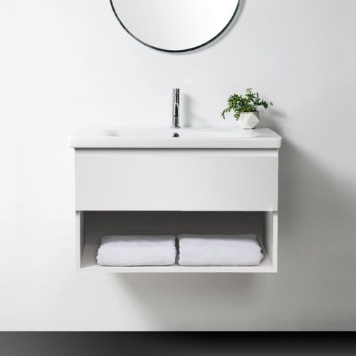 Soft 800, 1 Drawer, 1 Open Shelf, White by VCBC