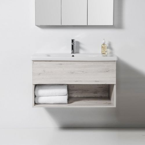 Soft 900 Wall-Hung Vanity 1 Drawer & Open Shelf by VCBC
