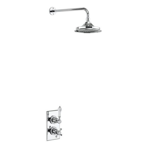 Trent Thermostatic Single Outlet Shower Valve with Fixed Rose by Burlington