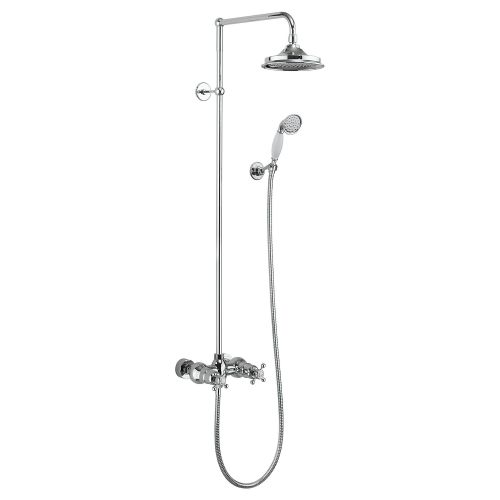Eden Thermostatic Double Outlet, Swivel Shower Arm, Rose, Handset & Holder with Hose by Burlington
