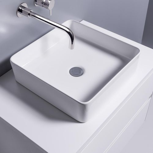 Sleek Square Counter Top Basin by Michel Cesar