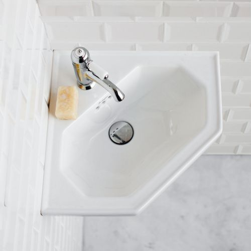 Corner 598 Cloakroom Basin by Burlington